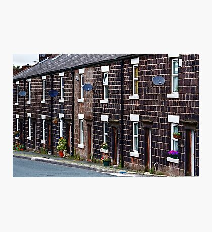 Cottages of blackened stone Photographic Print