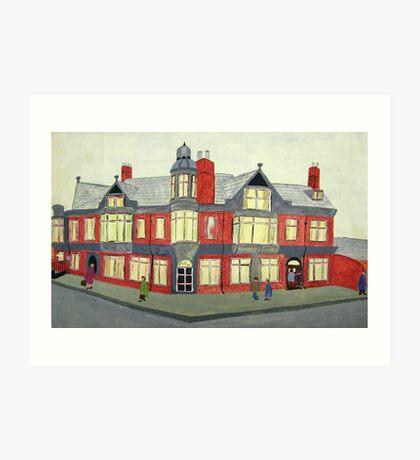 012 - NORTH SEATON HOTEL, ASHINGTON - DAVE EDWARDS - POSTER PAINTS - 1967  Art Print