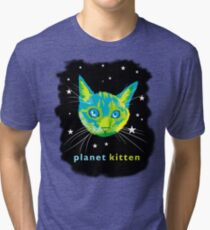 Planet Kitten Tri-blend T-Shirt