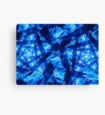 Blue Cylinder Shimmer  Canvas Print