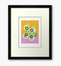 Blogs on my rug Framed Print
