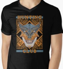 Hunting Club: Tigrex Mens V-Neck T-Shirt