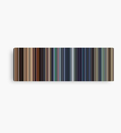 Moviebarcode: WALL·E (2008) [Simplified Colors] Canvas Print