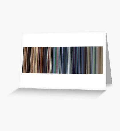 Moviebarcode: WALL·E (2008) [Simplified Colors] Greeting Card
