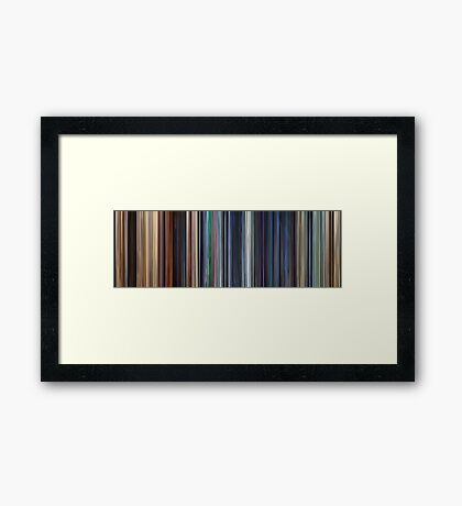 Moviebarcode: WALL·E (2008) Framed Print