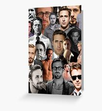 Ryan Gosling Collage Greeting Card