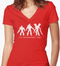 """It's Comparison Time"" - Mosquito Women's Fitted V-Neck T-Shirt"