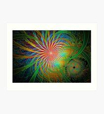 Rainbow Labyrinth Art Print