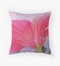 The Back of a Hibiscus, Textured Throw Pillow