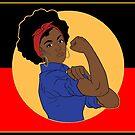 Strong blak woman flag by Beautifultd