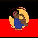 Too Strong For you karen blak woman flag by Beautifultd