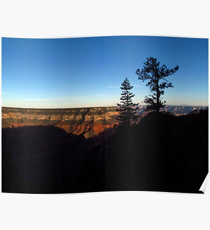 Silhouettes at North Rim Poster