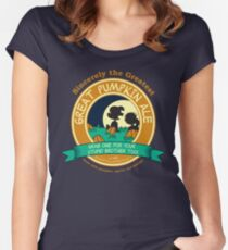 Great Pumpkin Ale Linus and Lucy Women's Fitted Scoop T-Shirt