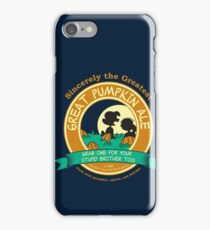Great Pumpkin Ale Linus and Lucy iPhone Case/Skin