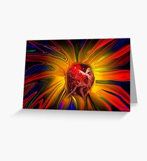 Power in a Flower Greeting Card