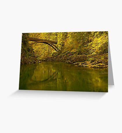 Footbridge Landscape Greeting Card