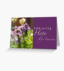 Embracing Hope for Tomorrow Greeting Card