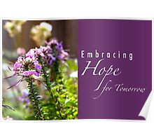 Embracing Hope for Tomorrow Poster