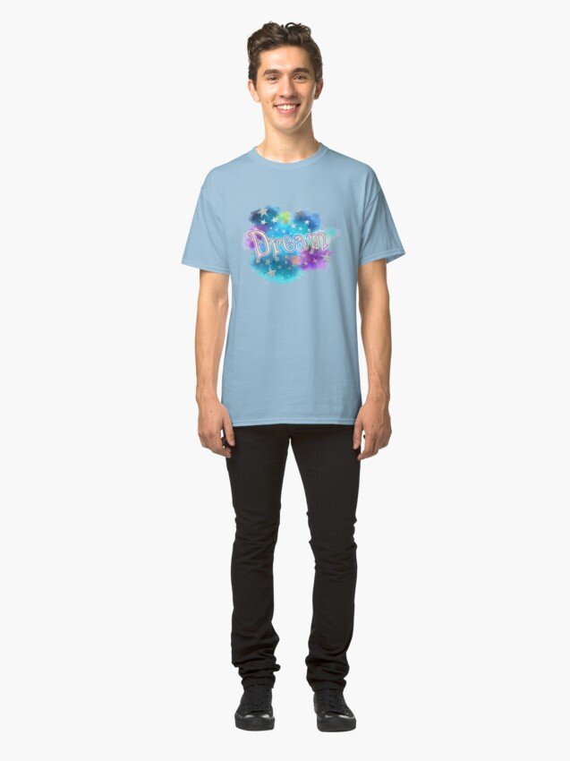 Alternate view of Dream - Clouds and Stars Classic T-Shirt
