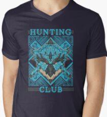 Hunting Club: Azure Rathalos Mens V-Neck T-Shirt