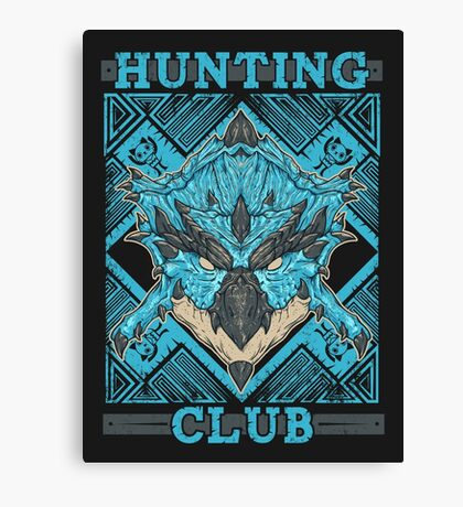 Hunting Club: Azure Rathalos Canvas Print