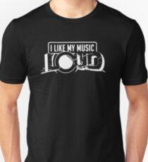 BLACK i like my music LOUD Unisex T-Shirt