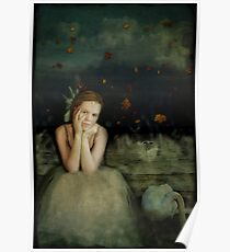 Girl With Swan Poster