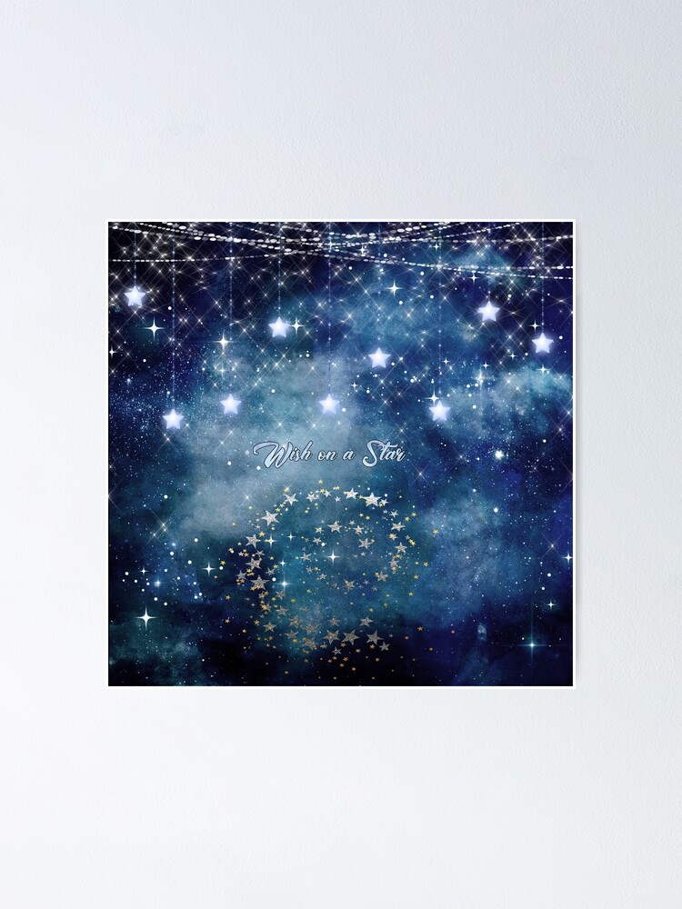 Alternate view of Wish on a Star Night Sky Poster