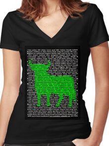 """""""The Year Of The Ox / Oxen / Buffalo / Cow"""" Clothing Women's Fitted V-Neck T-Shirt"""