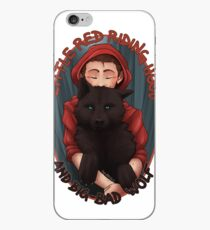 Little Red and BigBad Wolf iPhone Case