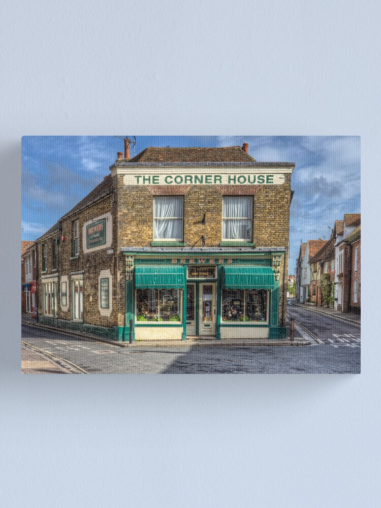 Alternate view of The Corner House Canvas Print