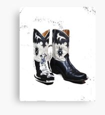 Black and White Boots Canvas Print