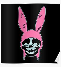 Grey Rabbit/Pink Ears Poster