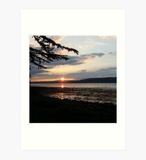Bunchrew Sunset Art Print