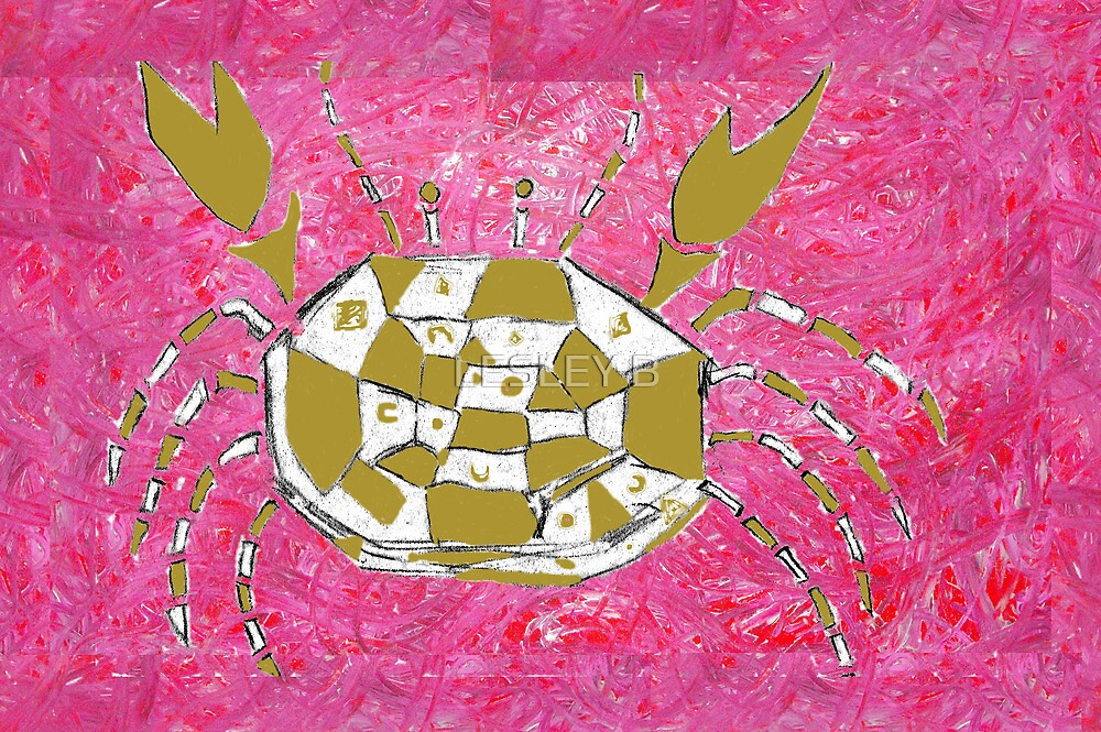 Crab before Dragonfly by LESLEY BUtler