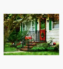 Home That Always Celebrates Christmas Photographic Print