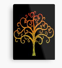 Firey Tree Metal Print