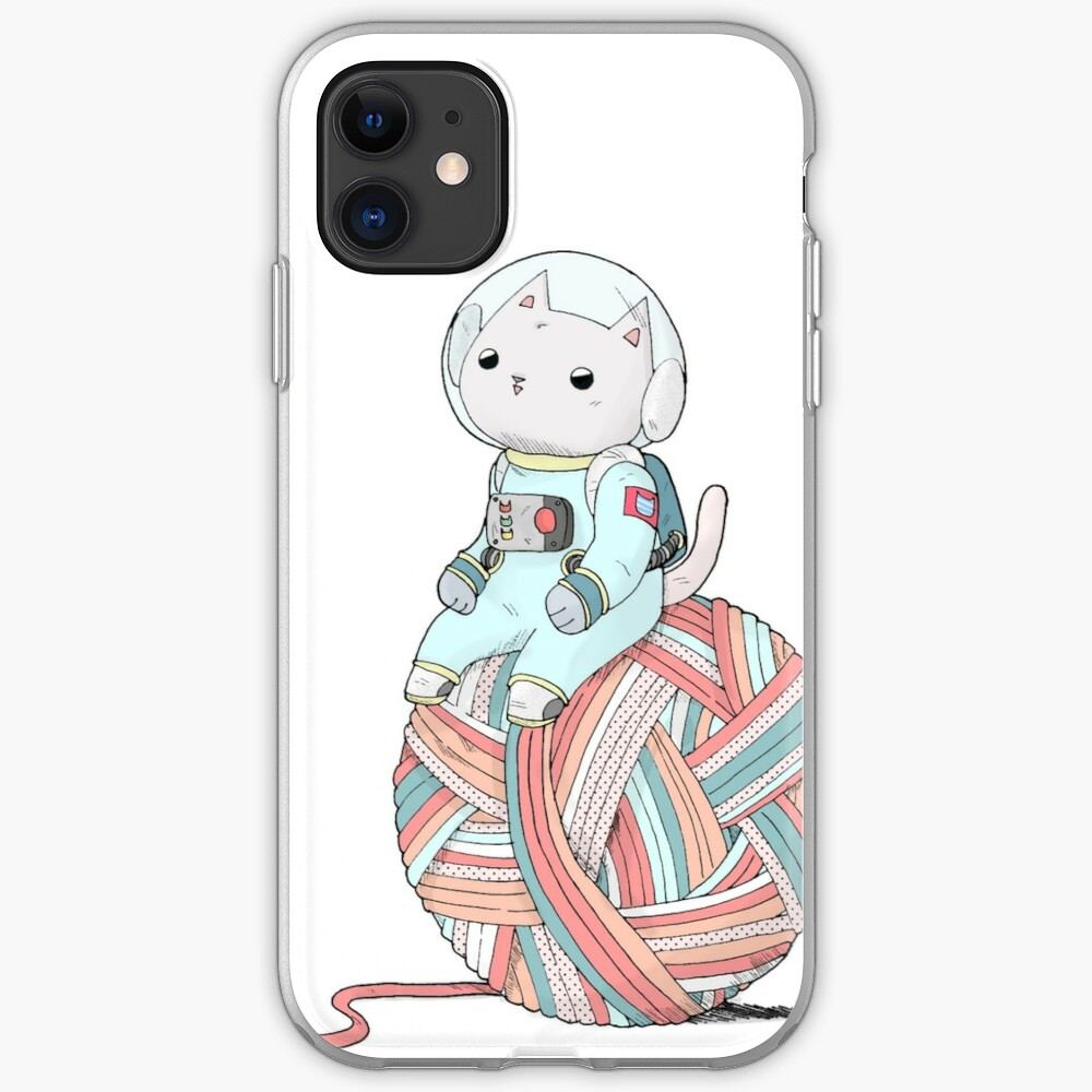 Space Cat on Planet Yarn Ball iPhone Case & Cover