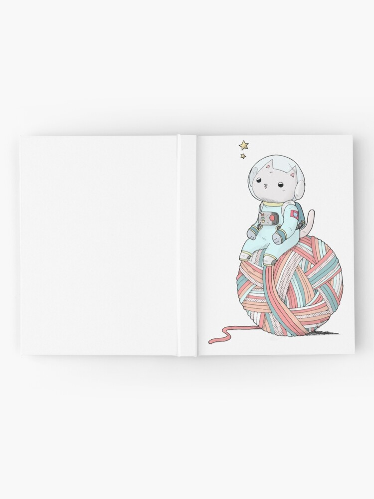 Alternate view of Space Cat on Planet Yarn Ball Hardcover Journal