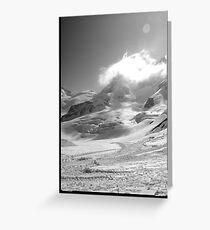 Jungfrau scene swiss alps Greeting Card