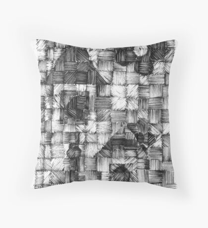 Tiny Houses - Ink Weaving - Experimental Throw Pillow