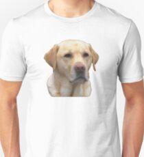 Camiseta ajustada Amigo fiel del laboratorio amarillo