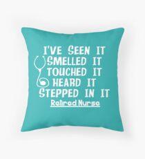 Funny Nurse Retirement Throw Pillow