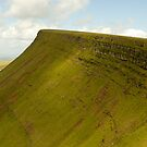 A ridge in Brecon Beacons by Mark A