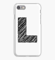 Sketchy Letter Series - Letter L iPhone Case/Skin
