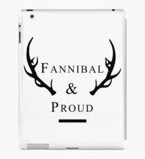 'Fannibal & Proud' (Black Font) iPad Case/Skin