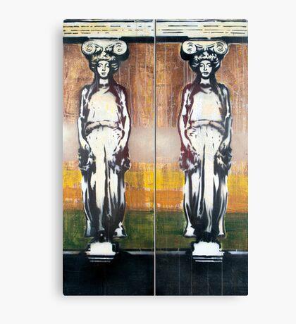 Caryatids Diptych #1 Canvas Print
