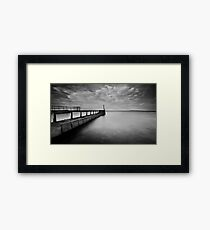 Long Pier Framed Print