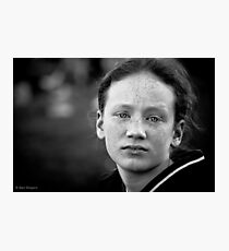 Another day, another eldest sibling worn down by her numerous brothers and sisters and wishing (if only for a day or two) she were an only child Photographic Print
