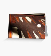 Backgammon Greeting Card